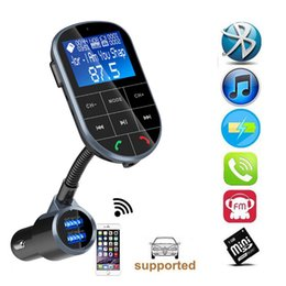 Dual Audio Car Australia - BC37 Bluetooth Car Transmitter FM Modulator Dual USB Fast Charger AUX Wireless Audio TF U Disk MP3 Player Hands Free Car Kit