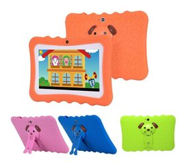 GooGle mix tablet online shopping - Kids Brand Tablet PC inch Quad Core children tablet Android Allwinner A33 google player wifi big speaker protective cover