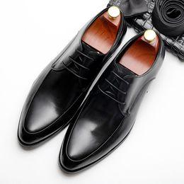 $enCountryForm.capitalKeyWord Australia - High quality Men shoes NEW fashion Genuine cow leather Italian brand designer formal comfortable casual shoes
