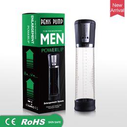 Men Penis Products Australia - USB Rechargeable Electric Penis Pump Enlargement Male Vacuum Penis Extender Cock Enlarger Erector Adult Toys Sex Products For Men Gay