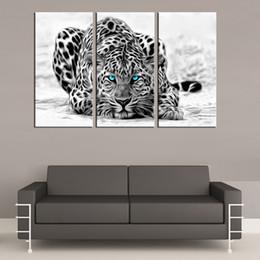 $enCountryForm.capitalKeyWord Australia - 3 Pieces Canvas Prints Wall Art Oil Painting Home Decor Animal Leopard -2 (Unframed Framed) 16x32x3.