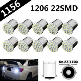 $enCountryForm.capitalKeyWord NZ - 100x Car LED 1156 P21W BA15S 1157 3156 3157 7440 7443 LED Bulbs Turn Signal Brake Light Reverse Lamp 1206 22 SMD Auto Tail Lights