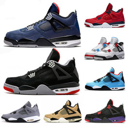 girls football hot NZ - High Quality Loyal Blue FIBA What The 4 Cool Grey Basketball Shoes 4s Hot Punch Raptors Bred Travis Scotts Raptors Mens Trainers Sneakers