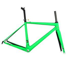 Green Bike Light Australia - Green paint light weight T1000 carbon road racing frames in stock carbon bike fraem road for sale