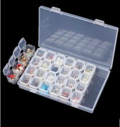 $enCountryForm.capitalKeyWord Australia - 28 Slots Adjustable Plastic Storage Box Transparent Storage Box for jewelry Diamond Bead Earring Clear Organizer