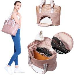 $enCountryForm.capitalKeyWord NZ - New KMV Designer Women's Lightweight Gym Tote Bag Waterproof Sports Handbag Wet Shoes Compartment Multifunction Nylon Travel