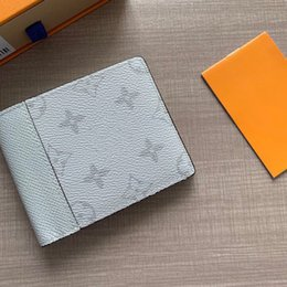 credit card pocket lights UK - NEW Multi-pocket wallet credit card canvas wallet men and women designer light gray short wallet