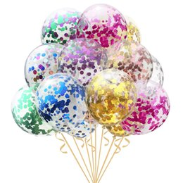 12 inch clear balloon Canada - 12inch Confetti Balloons Clear Latex Balloon for Wedding Decoration Happy Birthday Baby Shower Party Christmas Balloons Supplies