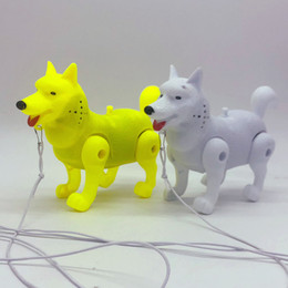 Battery Operated Ride Australia - Rope Wolf dog luminescent music electric Dog Pet Rope Dogs Children's night market stalls toy manufacturers wholesale
