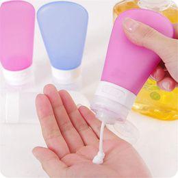 $enCountryForm.capitalKeyWord Australia - Wholesale- Size M 60ml Silicone Shampoo Shower Gel Lotion Sub-bottling Tube Squeeze Tool Travel Bottles