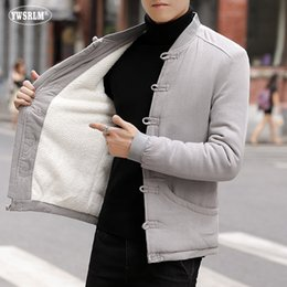 $enCountryForm.capitalKeyWord Australia - Chinese traditional man tops padded jacket oriental coats men's thickness parkas knitted men cotton linen clothing M-5XL JK6611