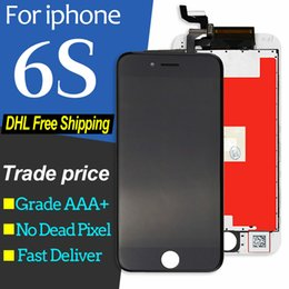 Iphone Screens Australia - High Quality For iPhone 6S LCD Display Touch Screen Replacement With 3D Touch Digitizer 4.7 inch White Black Free DHL