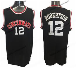 college shirts 2019 - Mens Cincinnati Bearcats Oscar Robertson College Basketball Jerseys Home Blue Vintage Cheap 12 Oscar Robertson Stitched