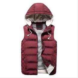Black Work Vests NZ - VXO 2019 New Spring Autumn Sleeveless Jacket for Men Fashion Warm Hooded Male Winter Vest Light Work Vests Waistcoat