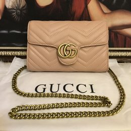 $enCountryForm.capitalKeyWord Australia - High Quality Famous designer Shoulder Bags Pu leather Fashion Gold Chain bag Cross Body Pure Color Female Women Handbag Shoulder Bag