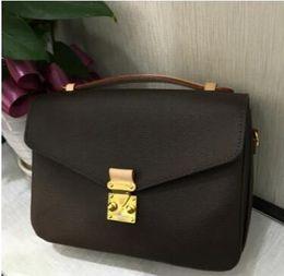 Discount leather handbag shoulder bags - 2018 new high quality leather women's handbag pochette Metis shoulder bags crossbody bags messenger bagM40780