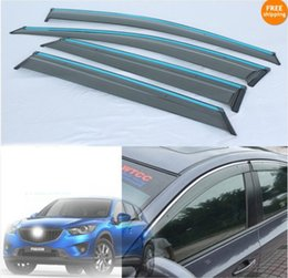 Accessory for mAzdA cx5 online shopping - car Rain shield Rain window visor sun visor finishing for Mazda CX CX5 per set Accessories Awnings Shelters
