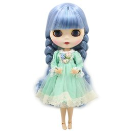 $enCountryForm.capitalKeyWord Australia - No.6227 1049 Factory Neo Blyth Joint Doll Blue Hair Toy Gift Special Price On Sale Suitable Makeup In Yourself MX190801