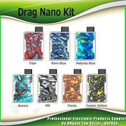 Chinese  Original Voopoo Drag Nano Pod Kit 750mAh Battery Resin Box Mod 1.0ml Refillable Vape Pod Cartridge 100% Authentic manufacturers