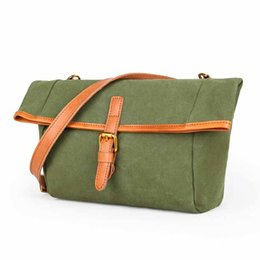 e957dfdaeca3 NEW Canvas Leather Women Bags Women s Shoulder Bags Handmade Casual Female  Totes for Lady Crossbody Bag High Quality Fresh Bag
