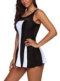 Slimming Black Swimsuit NZ - Women One Piece Swimdress Tummy Control Black Swim Dress Swimwear Slimming Skirt Swimsuits Bathing swim wear
