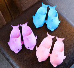 Baby Slipper Heels NZ - Children's slippers summer cute dolphin sandals and slippers children's shoes boys and girls indoor non-slip home baby slippers