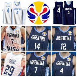 World teams online shopping - 2019 World Cup Team Argentina Basketball Jerseys Luis SCOLA Patricio GARINO Facundo CAMPAZZO Gabriel DECK Nicolas LAPROVITTOLA