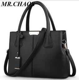 $enCountryForm.capitalKeyWord Australia - Women PU Leather Bag Solid Messenger Bag Ladies Large Handbag Square Shoulder Bolsas Femininas Sac New Fashion Crossbody