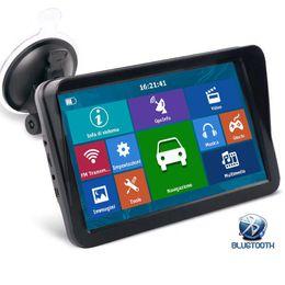 HD Auto 9-calowa ciężarówka GPS Navigator Bluetooth Avin Obsługa nawigacji wielu pojazdów z Sunshade Shield 8 GB Maps
