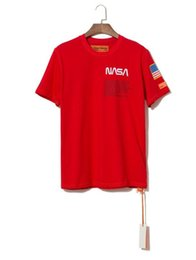 $enCountryForm.capitalKeyWord NZ - New York Fashion High Quality Heron Preston Nasa USA Flag Embroidery Men Women Street Luxury Cotton Hoody Casual Short Sleeve T-Shirt