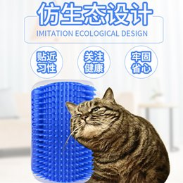 Articles Hair Australia - Corner Itching Of Hair Rubbing Apparatus Massage Comb Cat Toys Mint Teasing The Cat Pets Articles