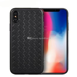 Letter Case Australia - Luxury Grid Weave Phone Cases Cover For iPhone Xr Xs MAX 6 7 8 Plus Case Heat Dissipation TPU Soft Phone Case Cover
