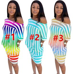 wholesale plus size clothes Australia - Women Designer Party Casual Dresses Midi Dresses Sexy Skirts Party Clubwear Dresses Clothes Plus Size Short Sleeve Summer HOT Selling 751