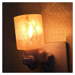 salt lamp wholesale Australia - 15W Salt Lamp Himalayan Glow Hand Natural Crystal Salt Lamp Night Light Wireless Bulb Replaceable Comfortable Quiet