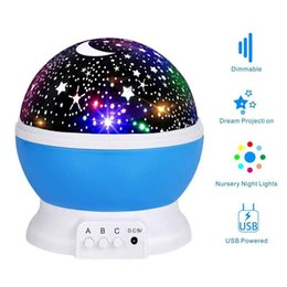 children projection lighting Canada - Night light LED starry night light projection lamp bedroom party children's projection lamp gift children birthday Christmas gif