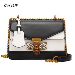 $enCountryForm.capitalKeyWord NZ - Elegent Handbag Women Shoulder Hand Bags Fashion Color Splicing Little Bee Lock Designer Crossbody Purses and Handbags