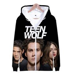 $enCountryForm.capitalKeyWord NZ - Tv Series Teen Wolf 3D Slim Fit Hoodie Zipper Fashion Trend Hoodie Sweatshirt Casual Zipper Sweatshirt