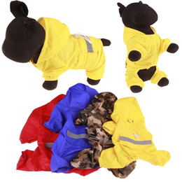 Discount dog reflective light - Medium And Small Dogs Raincoat Out Door Walking Reflective Light Rain Proof Windbreak Water Protection Tactic Dog Appare