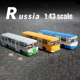 toy car model buses UK - 1:43 Alloy Bus SSM LIAZ 677m Bus Simulation Metal Sliding Toy High Quality Car Model Birthday Gifts Toys For Kids Children boy T200110