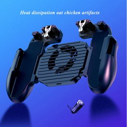 Wireless Controller For Ps2 Australia - eporter Controller Gamepad Pubg Mobile Trigger L1R1 Shooter Joystick Game Pad Phone Holder Cooler Fan with Power Bank