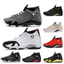7342332a3558 Mens Black Grey 14 14s Basketball Shoes Last Shot Ferrari desert sandBlack toe  Indiglo Thunder Wolf Grey mens desinger trainers sneakers