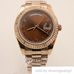 $enCountryForm.capitalKeyWord Australia - Designer Sale Wristwatch Daydate Series 218235-83215 Brown Dial Chocolate Shell Automatic Mechanical Mens Sports Watches Free Shiping