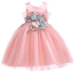 $enCountryForm.capitalKeyWord NZ - Junior Flower Dress For Party Girl Children School Birthday Clothing Tutu Applique Kids Summer 2019 Clothes Infant Vestidos Wear