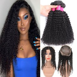 Full curly hair online shopping - 9A Brazilian Vrgin Hair Bundles With Cosures Full Lace Closure Body Wave Straight Loose Wave Curly Deep Wave Human Hair Bundles Weaves