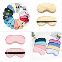 fashion eye sleep mask Canada - Padded Silk Eye Mask Solid Color Sponge Shade Nap Eye Cover Blindfold Sleep Mask Women's Sleeping Soft Masks Double Wear D61812