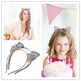 $enCountryForm.capitalKeyWord Australia - Girls Kids Cat Ear Alice Band Headband Metal Rhinestone Hairband Costume Cosplay