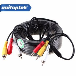 video security camera systems Canada - 5M   10M   15M   20M Security CCTV Cable RCA CCTV Camera Video Audio AV Power Cable For Surveillance Camera DVR System