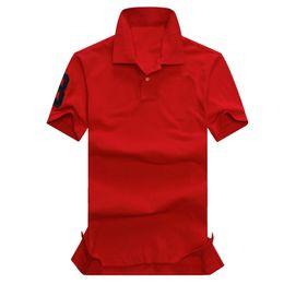 $enCountryForm.capitalKeyWord UK - Free Shipping High quality Summer 100% Cotton Polo Shirt USA American Brand Red Color Polos Men's Big HORSE Classic Sport RL Polo Polos
