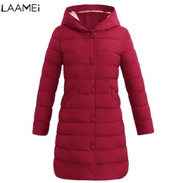 $enCountryForm.capitalKeyWord NZ - Laamei Women Parkas Cotton Padded Jacket 2018 Winter Designs Women's Jackets with Hood Long Warm Fashion Coats For Mom Hot