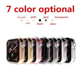 Vente en gros nouveau cas de couverture de pare-chocs TPU léger sport en plein air pour Apple Watch série 4- 44MM 40MM cadre de protection